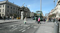 Dublin City Traffic Stock Footage