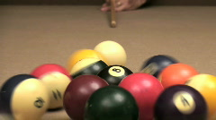 Pool 8 ball break - HD  Stock Footage