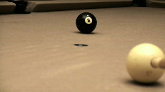 Pool shot 8 ball corner pocket - HD  Stock Footage