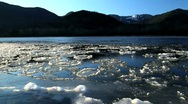 River-winter-ice-flow-2 Stock Footage