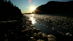 River-winter-ice-flow-3 Stock Footage