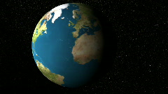 Earth View North Pole - stock footage