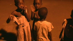 african poor children - stock footage