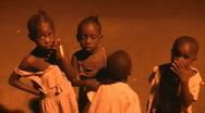 African poor children Stock Footage