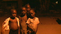 African poor children Stock Footage