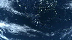 Earth View Night Close Up  - stock footage