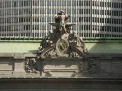 Grand Central Terminal Building Facade & Taxis Stock Footage