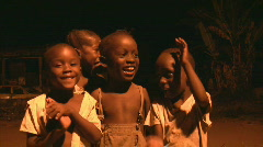 African Children singing a Song Stock Footage