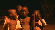 Stock Video Footage of African Children singing a Song