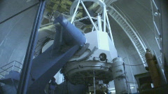 Inside the 2.1 meter telescope Stock Footage