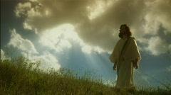 Jesus walks with heaven - stock footage