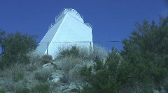 Looking up the McMath solar telescope ouside Stock Footage