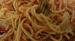 Eating Spaghetti - stock footage