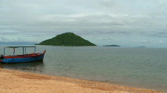 Malawi: boat on a lake Stock Footage