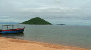 Stock Video Footage of Malawi: boat on a lake