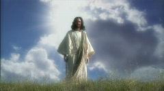 Jesus Glory Blue Stock Footage