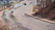 Stock Video Footage of Traffic at an intersection time-lapse.