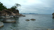 Stock Video Footage of Malawi: rocks in a lake