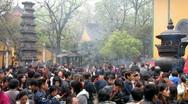 BUDDHIST TEMPLE CHINA Stock Footage