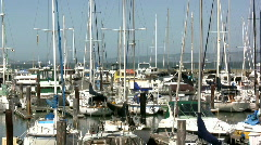 Boats in Harbor Dock of San Fransisco Stock Footage