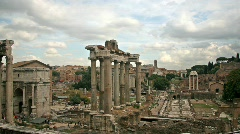 Imperial Forum, Rome - stock footage