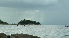 Malawi: african canoes and fishermen 1 Stock Footage