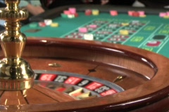 Casino Roulette Wheel Stock Footage