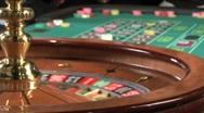 Stock Video Footage of Casino Roulette Wheel