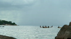 Malawi: african canoes and fishermen 2 Stock Footage