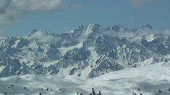 Time lapse mountains and clouds Stock Footage