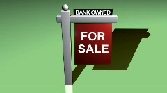 Db sign forsale 05 bank owned Stock Footage