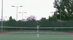 Game of tennis fast motion - HD  Stock Footage