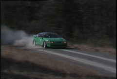 Motorsports, rally racing, Eagle Talon rally car, #6 Stock Footage