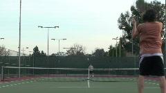 Tennis match - HD  Stock Footage
