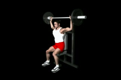 Shoulder Press with Alpha Channel NTSC Stock Footage