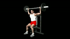Shoulder Press with Alpha Channel HD1080 Stock Footage
