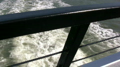 Boat Rail Overlooking Water Stock Footage