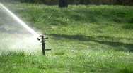Stock Video Footage of Grass sprinkler slow motion