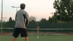 Game of tennis full court - HD  - stock footage