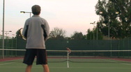 Stock Video Footage of Game of tennis full court - HD