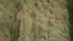 Xian Tomb of the Terracotta Warriors 1 - stock footage