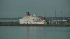 Passenger ferry between the island Gotland and the mainland in Sweden Stock Footage
