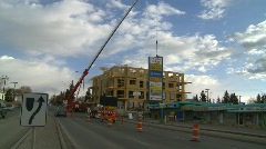 Construction, condo construction site and 120 ton crane, #1 Stock Footage