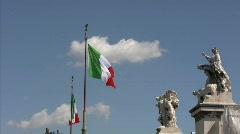 Monument to Vittorio Emanuele II Stock Footage