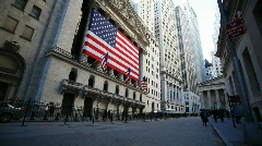 Wall Street and the NYSE - stock footage