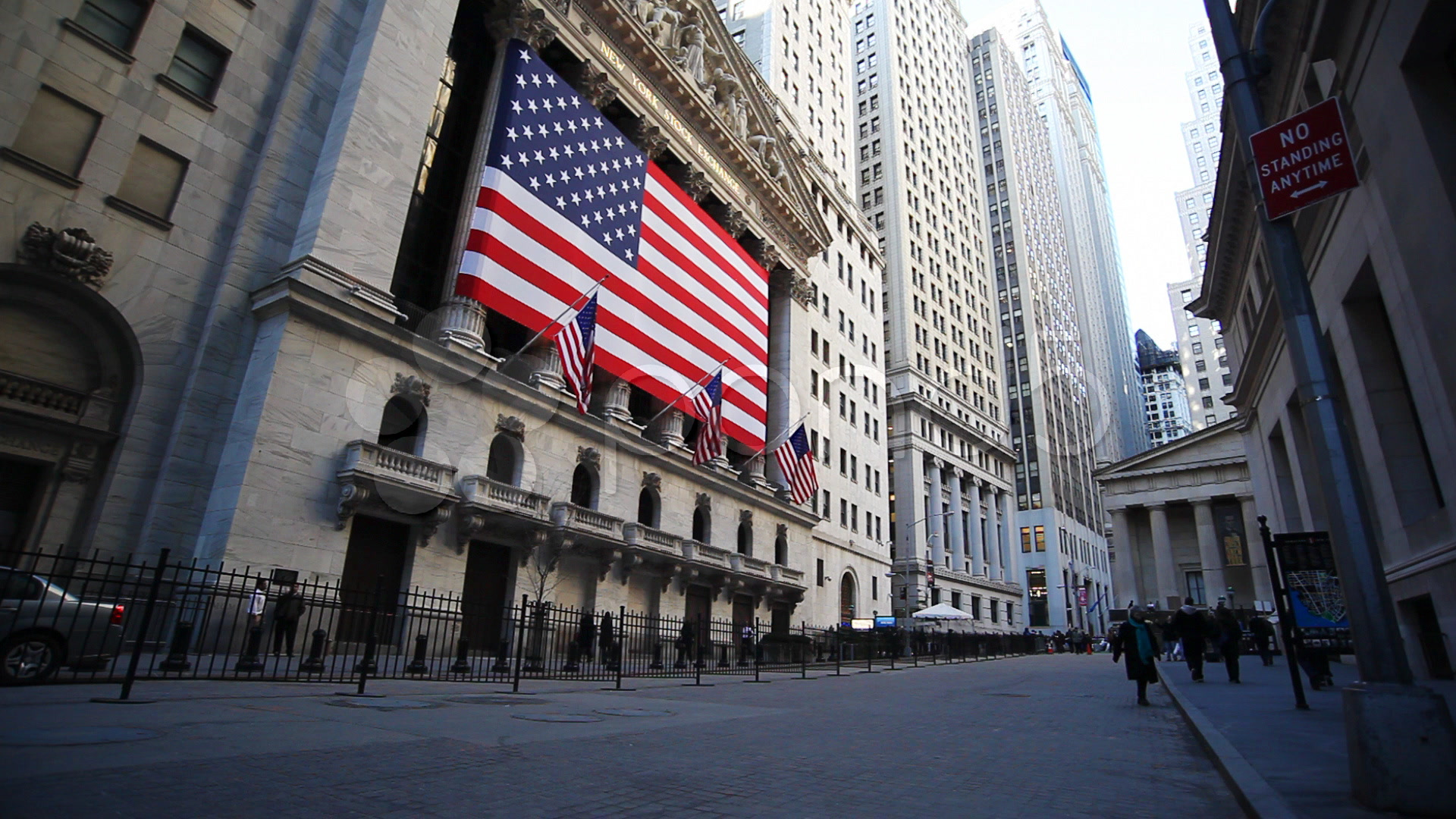 Wall Street And The Nyse Stock Video 363685 Pond5