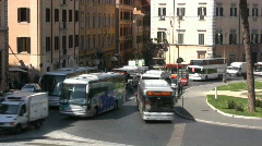 Traffic in Rome - Italy - Timelaps - stock footage