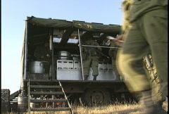 Military field kitchen Stock Footage