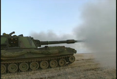 Military, M109 self propelled howitzer, #1 Stock Footage