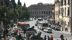 Theatre of Marcellus in Rome - Italy Stock Footage